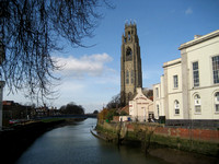 Boston Stump on the River Witham