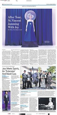 Photo in Wall Street Journal Feb 28 2014